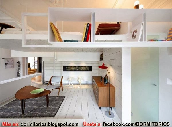 Decoracion monoambiente 2 niveles for Arredamento casa moderna piccola