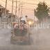 Continúa sanitización de espacios públicos en Cauquenes
