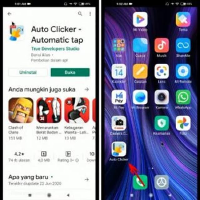Buka APK Auto Clicker