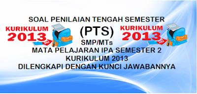 Soal PTS IPA SMP Kelas 7-8-9 Semester Genap