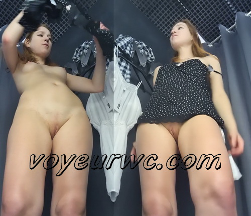 SpyCam 2677-2684 (Shopping Mall changing room. Hidden cam - Girl trying on swimsuits and dresses)