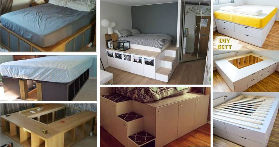 Diy Inspirations Storage Bunk Bed Designs With Raised Platform For Small Bedroom Decor Units