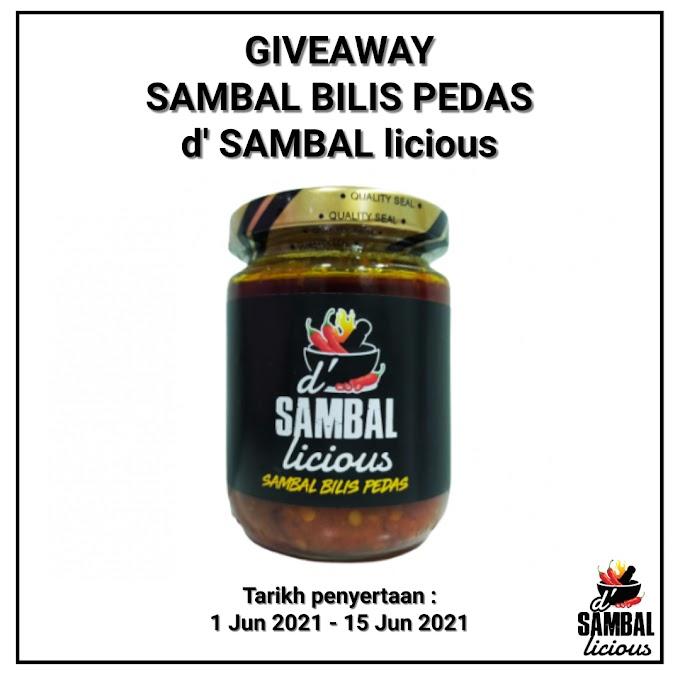 GIVEAWAY SAMBAL BILIS PEDAS - d' SAMBAL licious