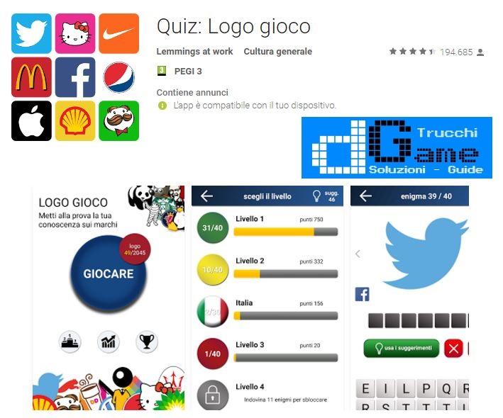 Soluzioni Quiz Logo gioco