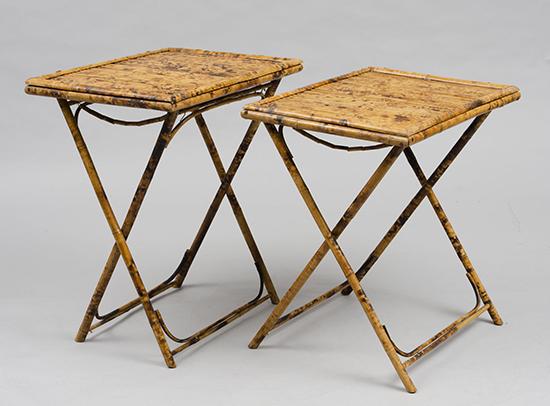 meja bambu sederhana