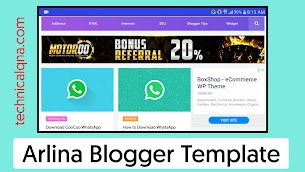 Arlina Design Responsive Blogger Template Free Download - Responsive Blogger Template