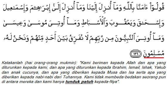 surat Al-Baqarah (2); ayat 136