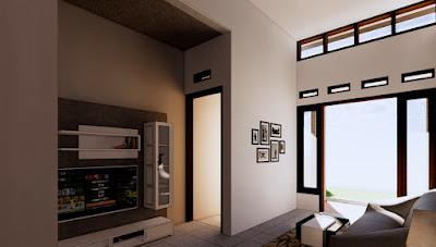 Ruang Tamu dan Ruang Keluarga  Rumah Minimalis 6x12
