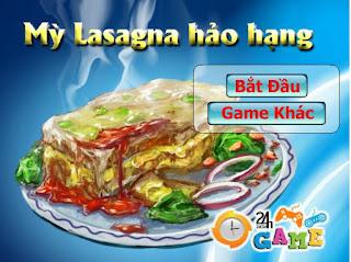 game học làm mỳ lasagna thú vị