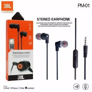 HANDSFREE / HEADPHONE / EARPHONE / HEADSET STEREO JBL PM-01
