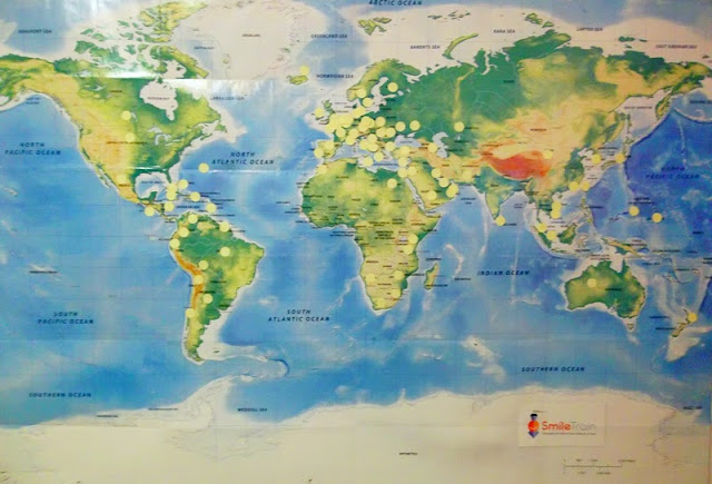 photo of world map from Annake's office