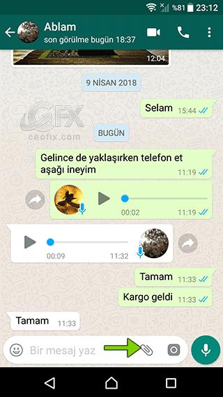 whatsapp kişi gönder-www.ceofix.com