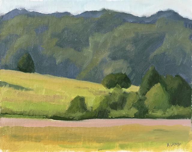 landscape study - plein air at Carroll Joyner Park