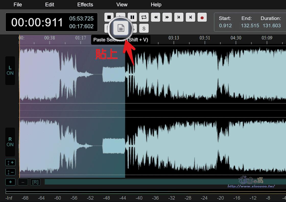 AudioMass 線上剪輯音訊檔案