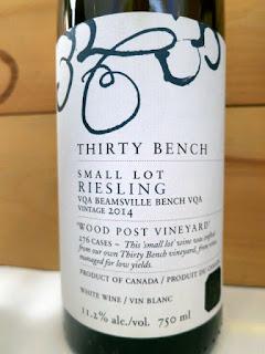 Thirty Bench Small Lot Wood Post Riesling 2014 - VQA Beamsville Bench, Niagara Peninsula, Ontario, Canada (91 pts)