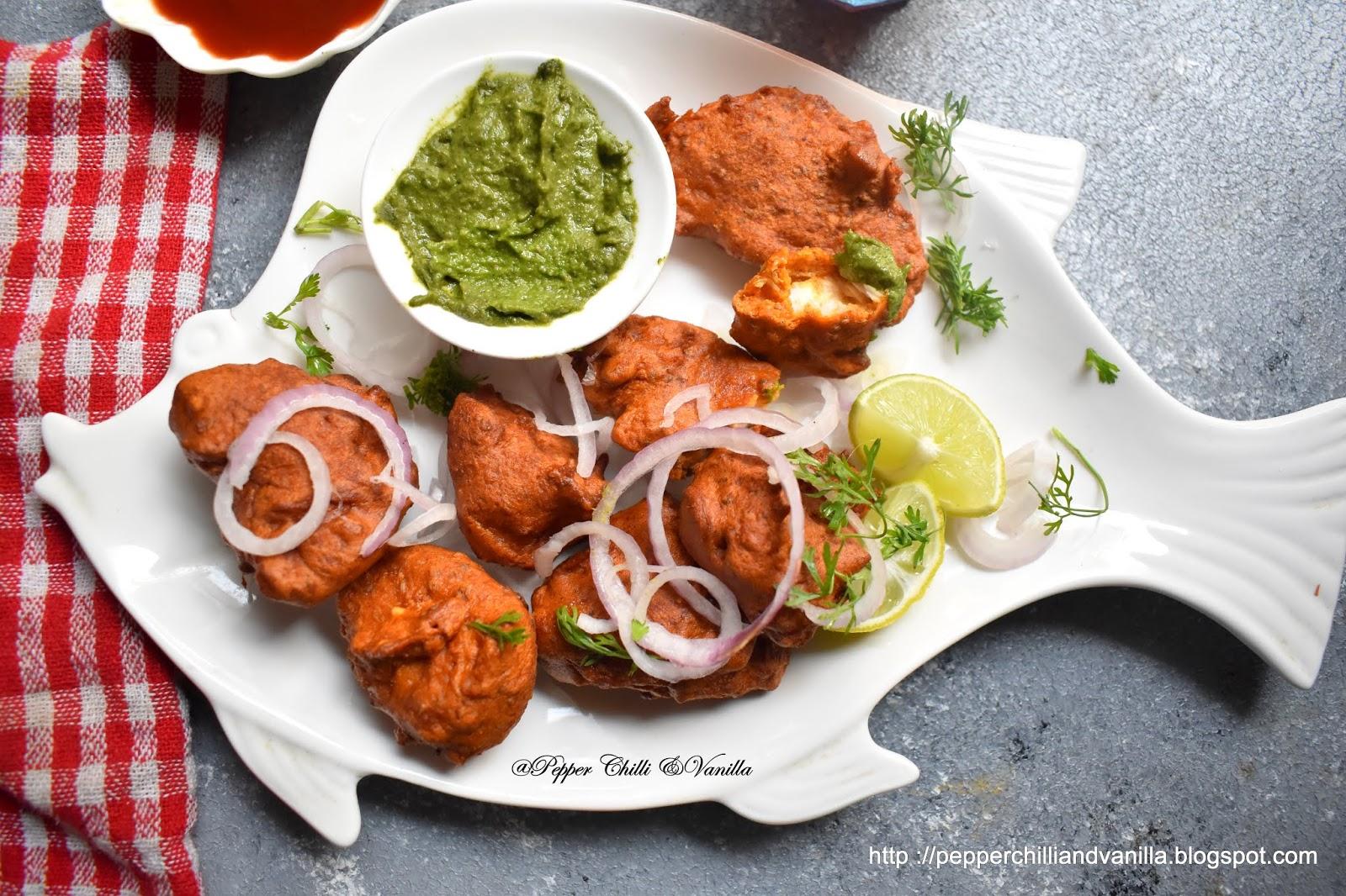 ajwain fish pakoda,amritsari fish fry