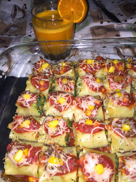 Mini Spinach Corn Roll Ups Lasagna