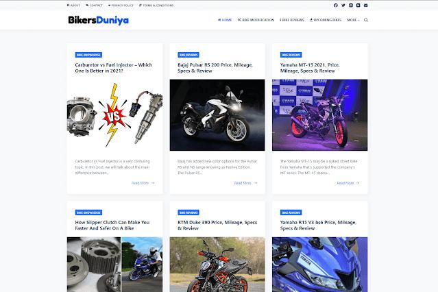 Bikers Duniya Front Page