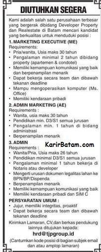 Lowongan Kerja PT. TJP Group Indonesia