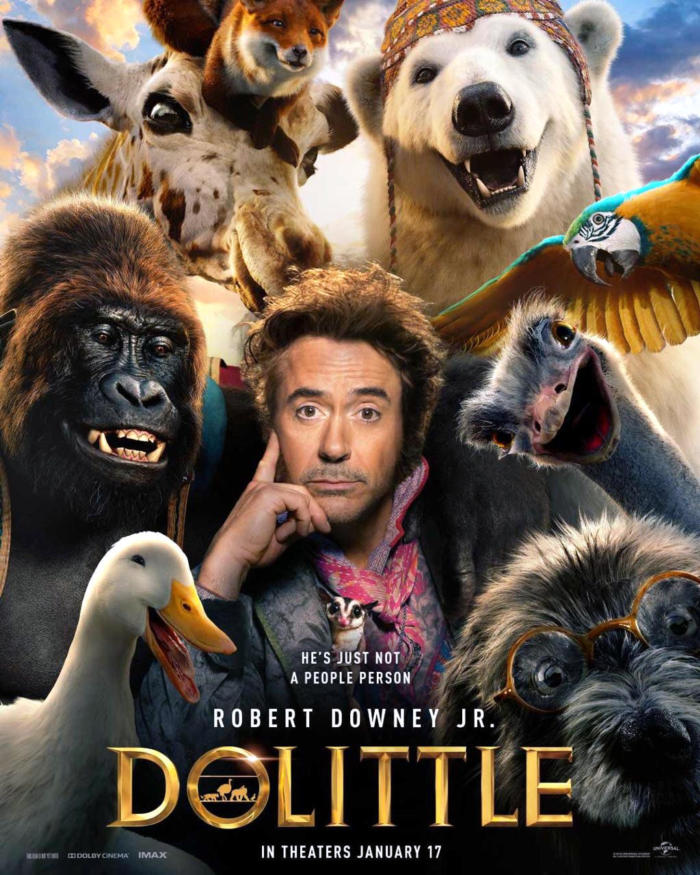 It is based on the character Doctor Dolittle created by Hugh Lofting, primarily The Voyages of Doctor Dolittle. Robert Downey Jr. stars as the title character