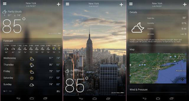 أفضل ثلاث تطبيقات لمعرفة حالة الطقس والأرصاد الجوية للأندرويد