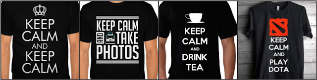 6. SABLON KAOS KEEP CALM