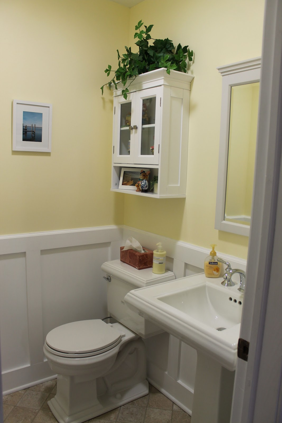 My powder room remodel just one donna - What is a powder room ...