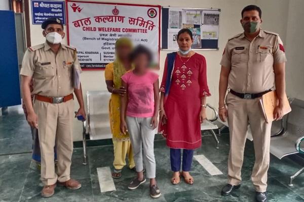 faridabad-mangar-police-chowki-find-missing-girl-news