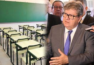 Ministério Público pede que João Azevêdo reavalie decreto e permita volta às aulas na Paraíba