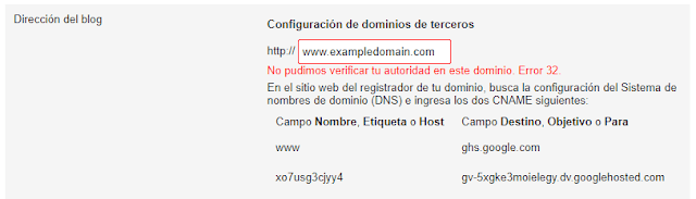Blogger error 52