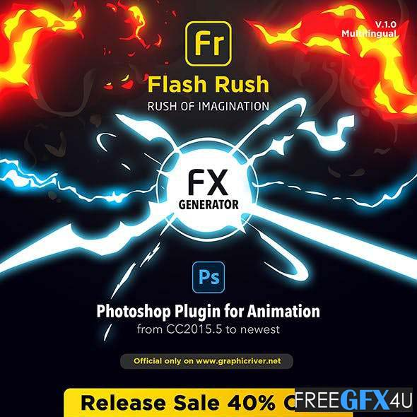 Flash Rush Fx For Photoshop Animation Pack