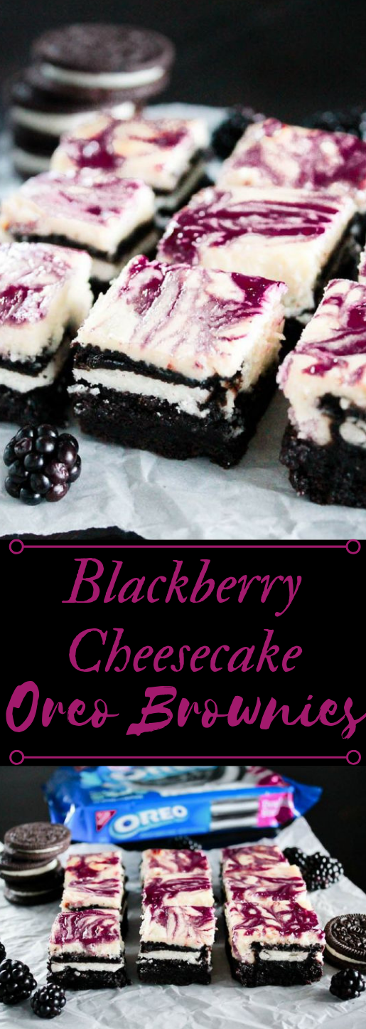 Blackberry Cheesecake OREO Brownies #oreo #brownies # blackberry #dessert #cake