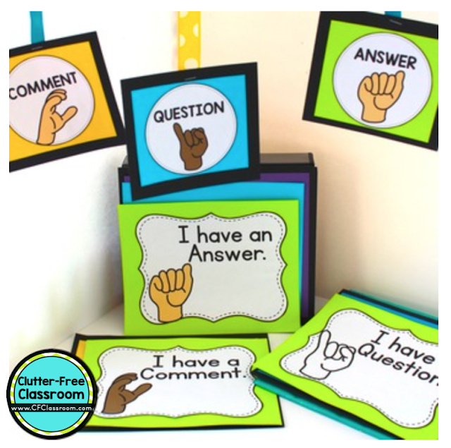 You NEED nonverbal hand signals as an elementary classroom communication and management strategy! Try out sign language or a fun secret code with fingers to keep your kids learning and following procedures, routines, strategies, and techniques. The Clutter Free Classroom has a printable and ideas for bathroom, pencil, and more so you are ready for back to school!