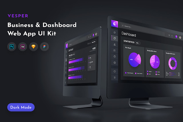 Vesper Dashboard Web App UI Kit