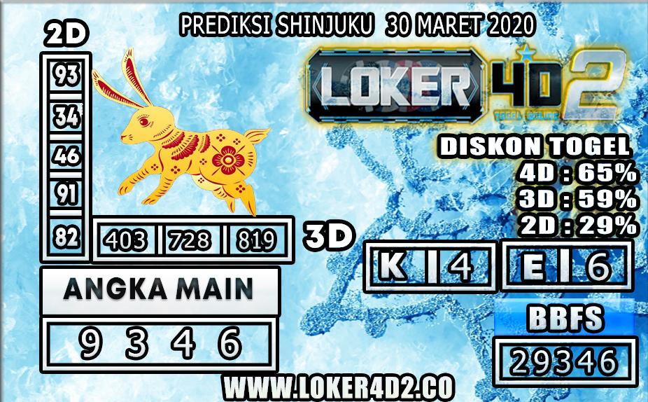 PREDIKSI TOGEL SHINJUKU LUCKY 7 LOKER4D2 30 MARET 2020