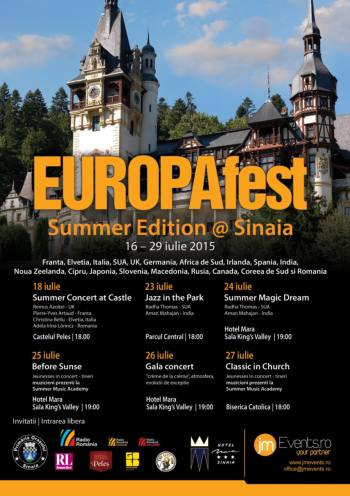 Program Europafest Summer Edition Sinaia