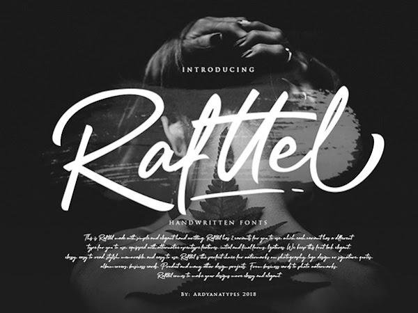 Rafttel Elegant Handwritten Font Free Download