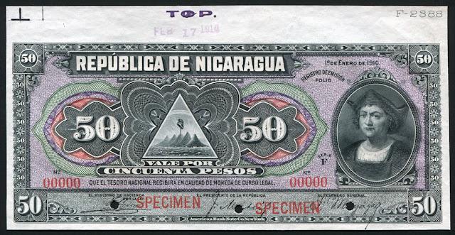 Nicaragua Billete 50 Pesos