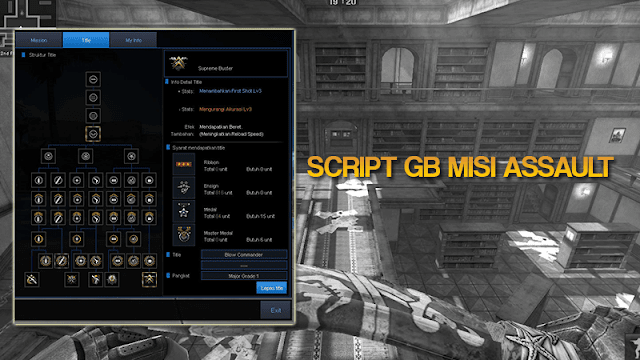 Script gb misi assault point blank zepetto terbaru (gb title)
