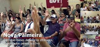 Com dois meses de salários atrasados, aposentados pedem socorro em Nova Palmeira