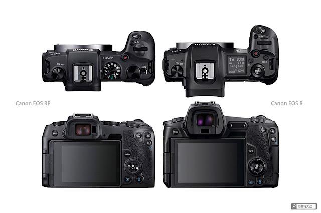 Canon EOS RP 使用心得 - 對比 EOS R