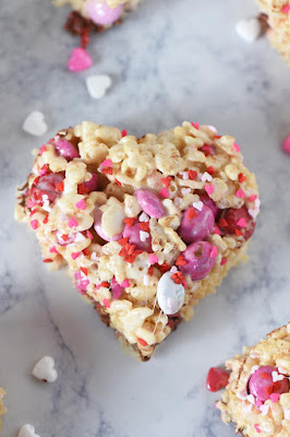 ★★★★★ | M&M'S HEART SHAPED VALENTINE RICE KRISPIE TREATS