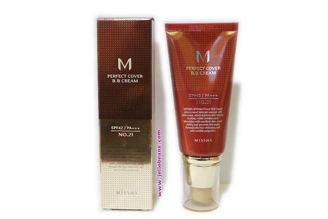 Missha Perfect Cover BB Cream SPF 42 PA+++ in No. #21 Light Beige