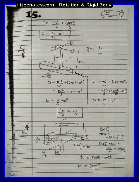 Rotation and Rigid body Notes 5
