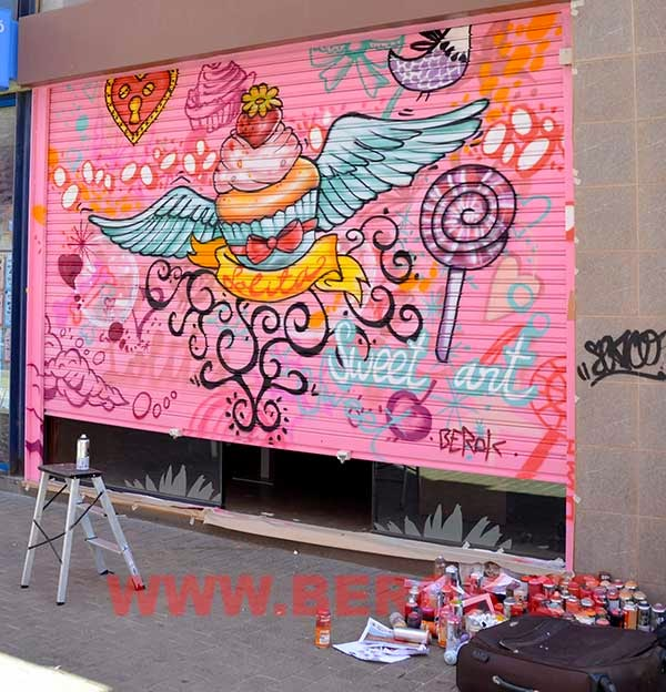 Graffitis persianas Vilanova
