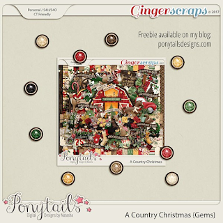 Creative Team, Annemarie, for GingerScraps – Sweet Memories Templates by Miss Fish Templates and A Country Christmas - Digital Scrapbooking Kit by Ponytails Designs and Coordinating Freebie