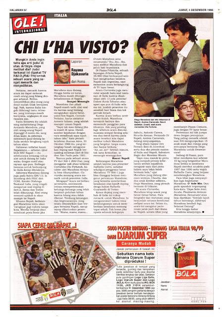 LEGA CALCIO SERIE A 1998 CHI L'HA VISTO