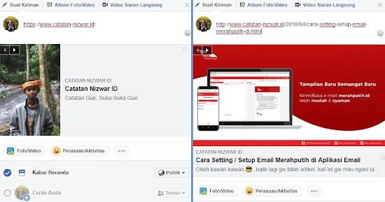Contoh Thumbnail Utama dan Artikel berbeda - Catatan Nizwar ID