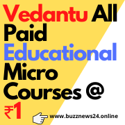Vedantu All Paid Educational Micro Courses at Rs 1 /-