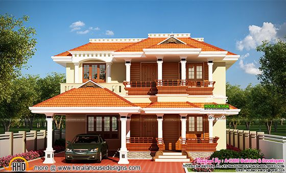 Attractive typical Kerala home design